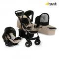 Бебешка Комбинирана количка 3в1 SHOPPER TRIOSET Almond / Caviar - HAUCK