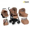 Бебешка Комбинирана количка CONDOR ALL IN ONE STRIPE TOAST - HAUCK